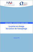 La prise en charge du cancer de l'oesophage