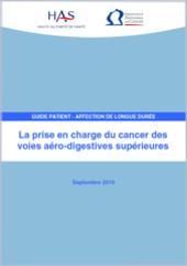La prise en charge du cancer des voies aérodigestives supérieures