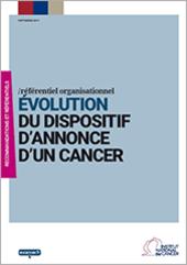 Évolution du dispositif d'annonce d'un cancer (septembre 2019)